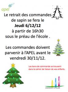Vente de sapin de Noël 2012