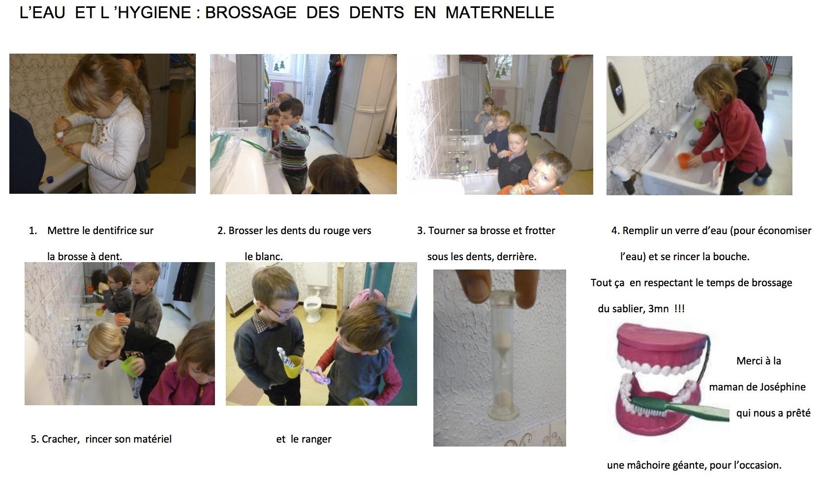 Super L'eau et l 'hygiène : brossage des dents en maternelle - Ecole  RG18