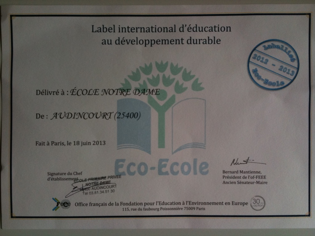 Label Eco-Ecole 2013
